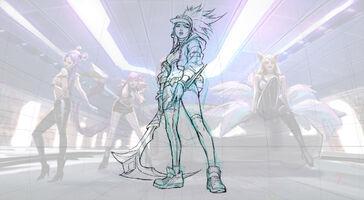 Akali KDA Splash Concept 01