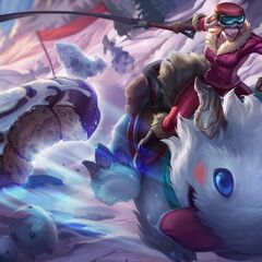 Giant Poro and Poros in Poro Rider Sejuani splash art