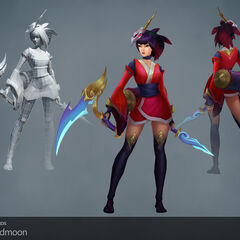 Blood Moon Akali Update Model 1 (by Riot Artists <a href=