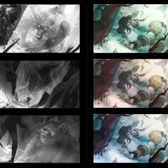 Tundra Hunter Warwick Splash Update Concept 1 (by Riot Artist <a href=