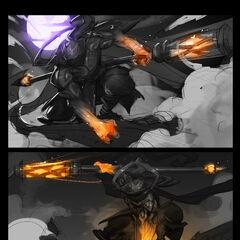 God Staff Jax Splash Concept 1 (by Riot Artist <a href=