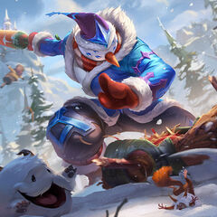 Poros in the Snow Man Yi Splash