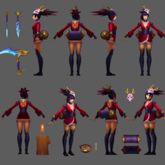 Blood Moon Akali Update Model 4 (by Riot Artists <a href=