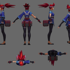 Sashimi Akali Update Model 2 (by Riot Artists <a href=