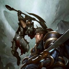 Garen vs. Darius Illustration (by Riot Artist <a href=