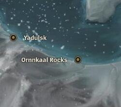 Ornnkaal Rocks map