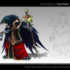 Tyrant Swain bird form concept art (by Riot Artist <a rel=