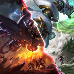 Lancer Rogue and Lancer Paragon Blitzcrank Widescreen Splash (by Riot Artist <a href=