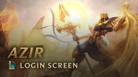 Azir, der Imperator des Sandes - Login Screen