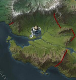 Demacian Walls map