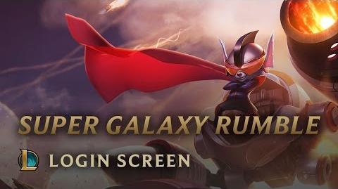 Super Galaktyczny Rumble - ekran logowania
