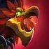 Symbol des roten Greifvogels Beschwörersymbol