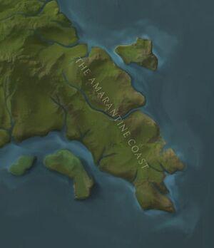 The Amaranthine Coast map