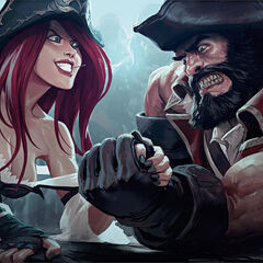 Gangplank vs Miss Fortune 3 (by Riot Artist Jason Chan)