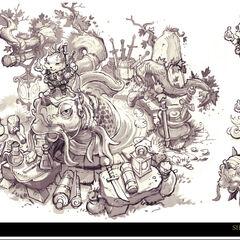 Summoner's Rift Update Shopkeeper Concept 8 (by Riot Artist <a href=