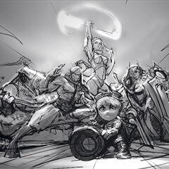 Team Builder Concept 01 (by Riot Artist Suke 'hugehugesword' Su)
