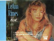 LeAnn Rimes - Blue (single) Europe cover