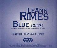 LeAnn Rimes - Blue (single) US Promotional single cover