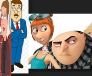 Gru lucy and Tom Tucker Angela family guy