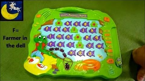 LeapFrog Leap's Phonics Pond Title of Songs in Music Mode that Match Up with Alphabet Letters