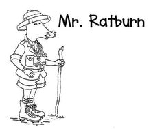 Mr ratburn lineart by the ice syrin