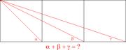 Three Square Geometry Problem