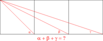 Three Square Geometry Problem