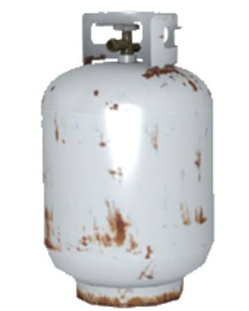 a low-poly model of a protane tank