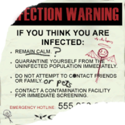 Sign infection warning mod01