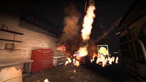 Взрыв баррели