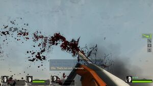 Chainsaw aerial-blood glitch