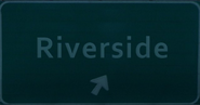 Riverside freeway sign