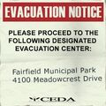 Sign evacuation notice fairfield ri