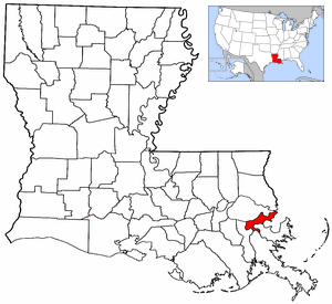 Image Map Of Louisiana And USA Highlighting Orleans Parishpng - Louisiana on usa map