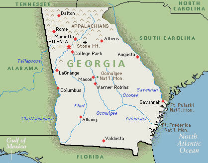 Image Georgiajpg Left Dead Wiki FANDOM Powered By Wikia - Map of georgia usa