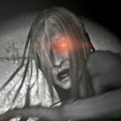 Una Witch asustada durante la escena de apertura del Left 4 Dead.