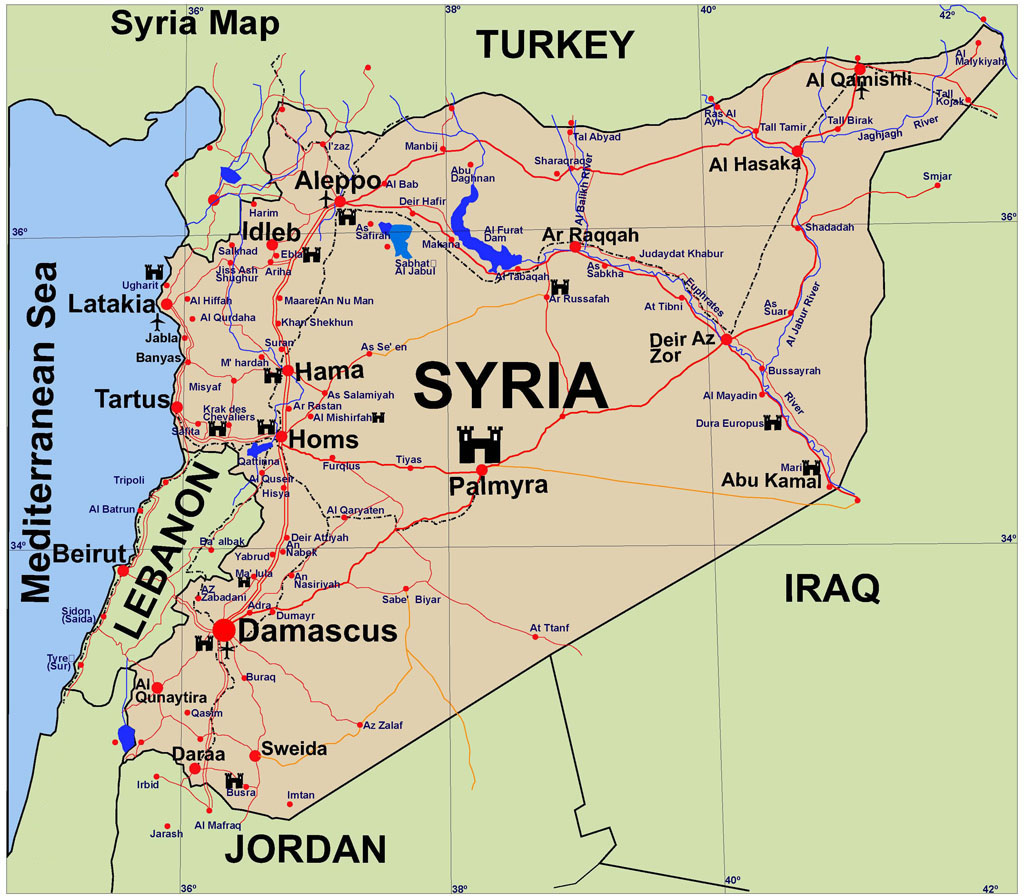 Syria left behind wiki fandom powered by wikia political map of syria gumiabroncs Images