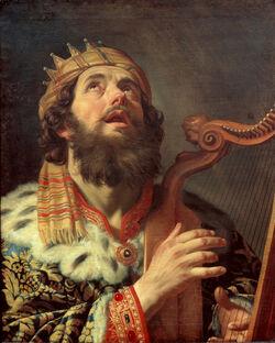 Gerard van Honthorst - King David Playing the Harp - Google Art Project