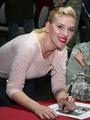 Scarlett Johansson signingautographs