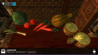 Mesa de Vegetales y Quesos
