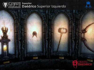 Expositor Daedricos Superior Iznquierdo