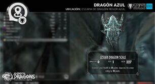 Escama de Dragón Menor Azul UB2