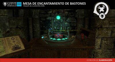 Mesa de Encantamiento de Bastones