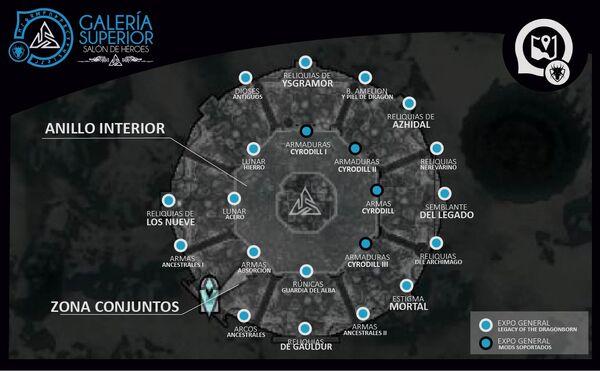 Mapa Galería Superior