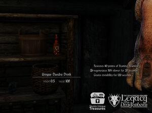 Bebida Daedra - Ubicación
