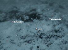 Alftand on map