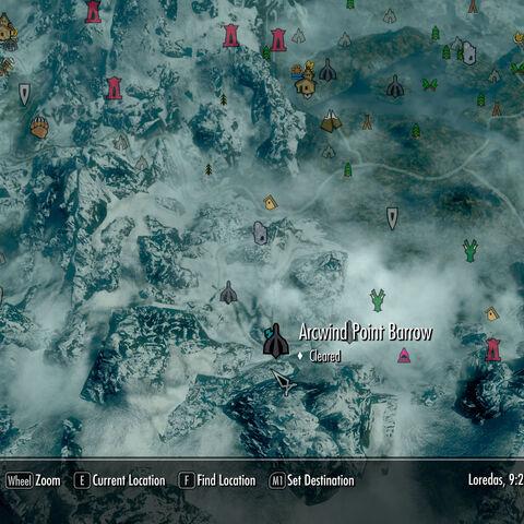 Ветровая Дуга на карте мира