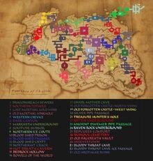 Skyrim Underground map