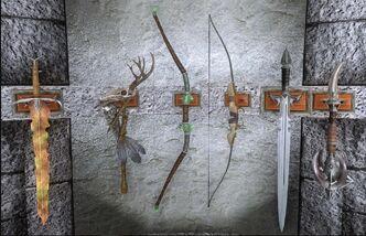 1-ая витрина с оружием в Зале Героев