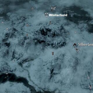 Пещера Мертворождённого на карте мира